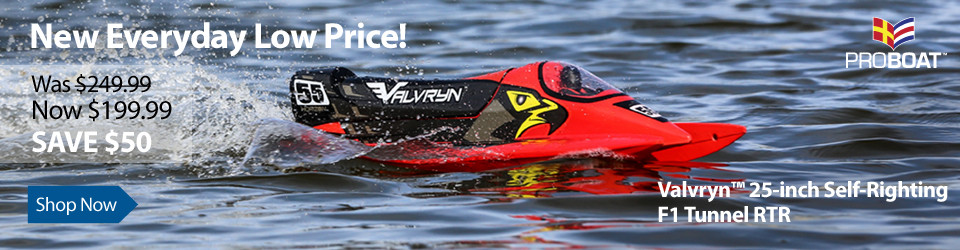 New Everyday Low Price! Pro Boat Valvryn 25 Self-Righting F1 Tunnel RTR