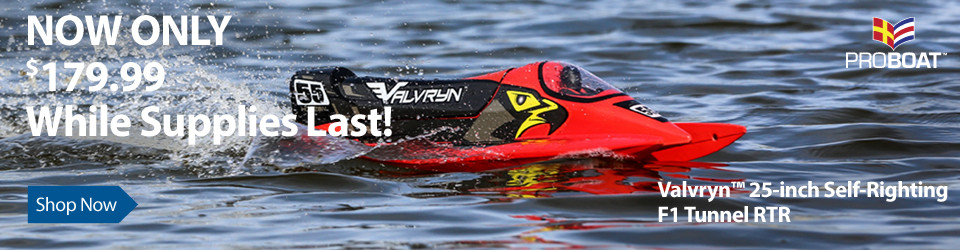 Now only $179.99 - Valvryn 25-inch F1 Tunnel Hull Self-Righting RTR