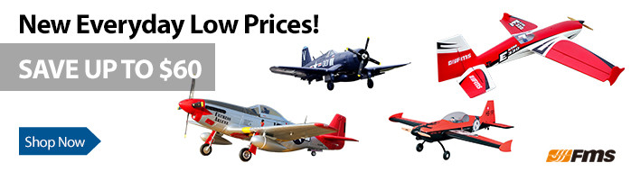 New Everyday Low Prices - Save up to $60 on these FMS aircrafts