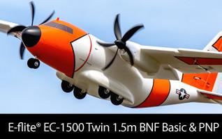 E-flite EC-1500 Twin 1.5m BNF Basic & PNP