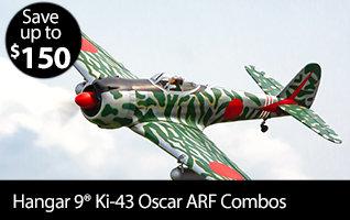 Hangar 9 Ki-43 Oscar 50-60cc ARF Combos