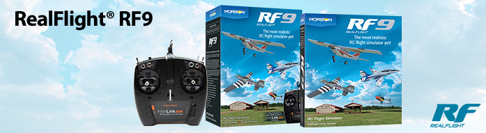 RealFlight RF9 Flight Simulator and Controller Software only version available