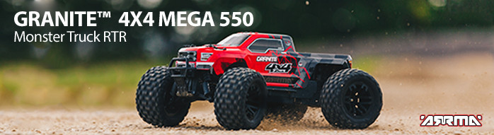 ARRMA GRANITE 4X4 MEGA 550 Monster Truck RTR Read to Run