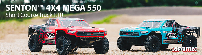 ARRMA SENTON 4X4 MEGA 550 Short Course Truck RTR Read to Run