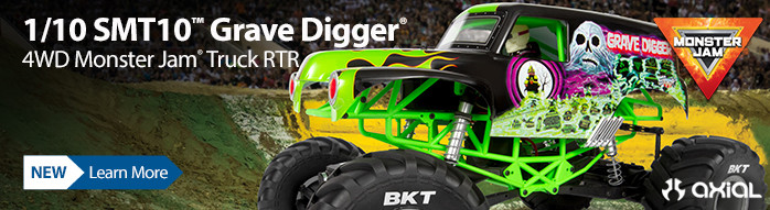 New! Axial 1/10 SMT10 Grave Digger 4WD Monster Truck RTR