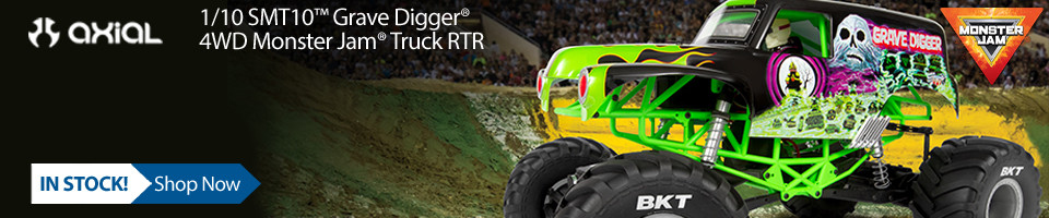 In Stock! Axial 1/10 SMT10 Grave Digger 4WD Monster Truck RTR