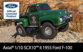 Axial 1/10 SCX10 II 1955 Ford F-100 4WD Truck Brushed RTR