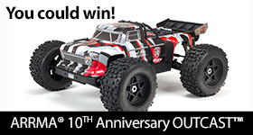 ARRMA Limited Edition 10th Anniversary OUTCAST Sweepstakes!