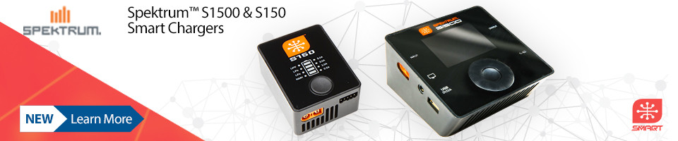 New! Spektrum S1500 & S150 Smart Chargers