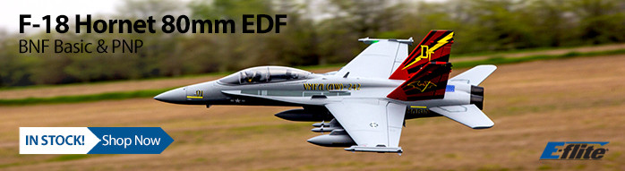 In Stock! E-flite F-18 Hornet 80mm Electric Ducted Fan RC Airplane