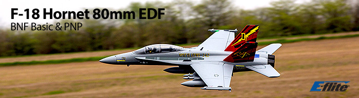 E-flite F-18 Hornet 80mm Electric Ducted Fan Jet Airplane