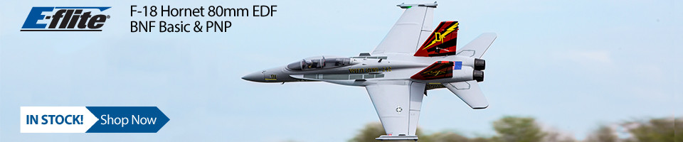 In Stock! E-flite F18 Hornet EDF Jet