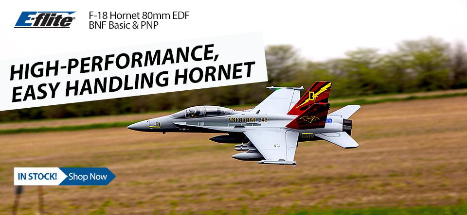 E-flite F-18 Hornet 80mm EDF BNF Basic