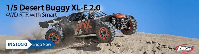 In Stock! Losi 1/5 DBXL-E 2.0 4WD Brushless Desert Buggy RTR with Smart