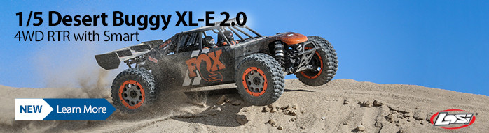 New! Losi 1/5 DBXL-E 2.0 4WD Brushless Desert Buggy RTR with Smart