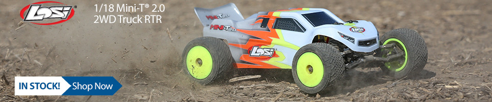 In Stock! Losi 1/18 Mini-T 2.0 2WD Stadium Truck RTR