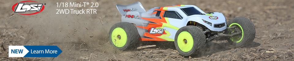 NEW! Losi 1/18 Mini-T 2.0 2WD Stadium Truck RTR