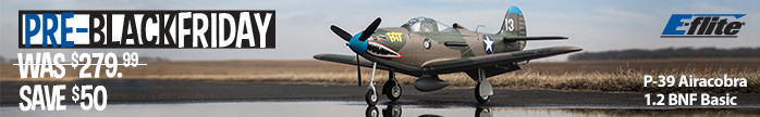 P-39 Airacobra 1.2m BNF Basic