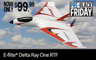 Pre-Black Friday E-flite Delta Ray One RTF NOW ONLY $99.99