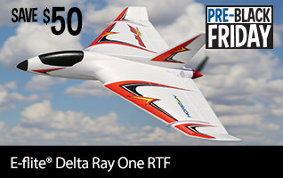 Pre-Black Friday SAVE 50 on the E-flite Delta Ray One RTF