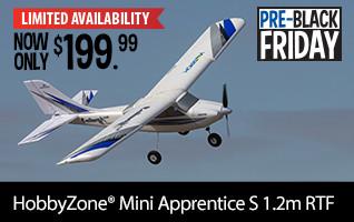 Pre-Black Friday HobbyZone Mini Apprentice S 1.2m RTF NOW ONLY $199.99