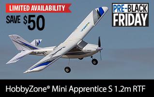 Pre-Black Friday SAVE 50 on HobbyZone Mini Apprentice S 1.2m RTF