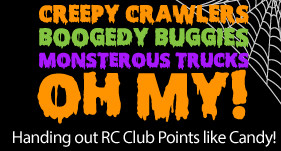 Creepy Crawlers Boogedy Buggies Monsterous Trucks - OH MY - Handing out RC Club Points like Candy!