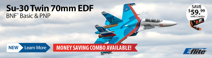 New! E-flite Su-30 Twin 70mm EDF Jet