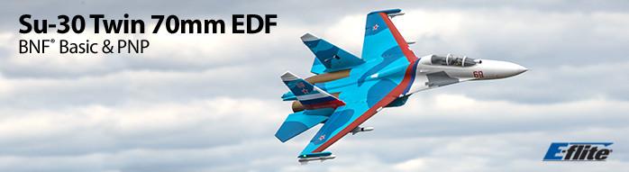 E-flite Su-30 Twin 70mm EDF BNF Basic & PNP