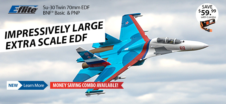 New! E-flite Su-30 Twin 70mm EDF Jet