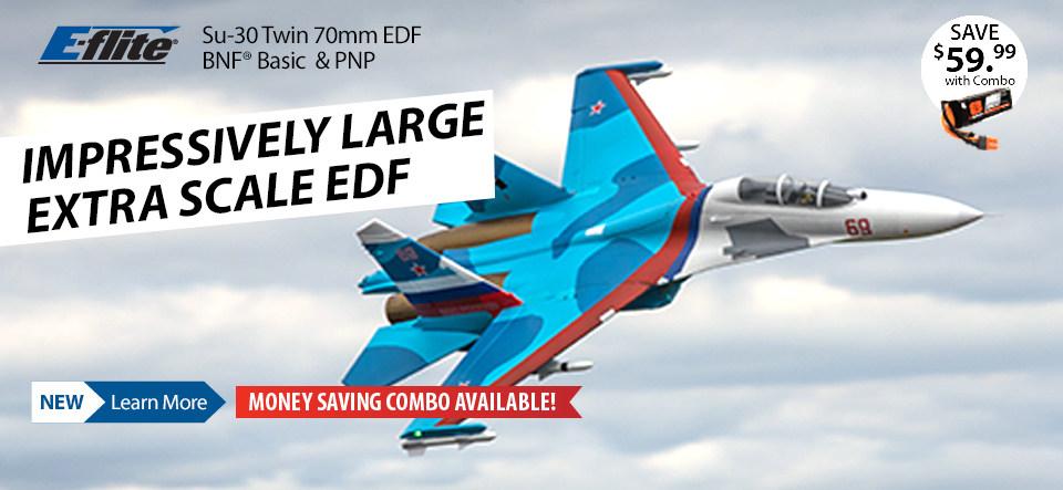 E-flite Su-30 Twin 70mm EDF Jet