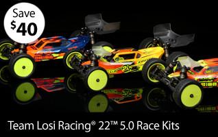Save $40 on Team Losi Racing 1/0 22 5.0 Race Kit Series