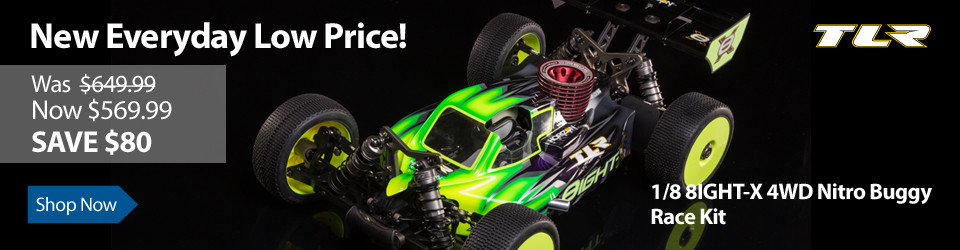 New Everyday Low Price on TLR 1/8 8IGHT-X 4WD Nitro Buggy Race Kit