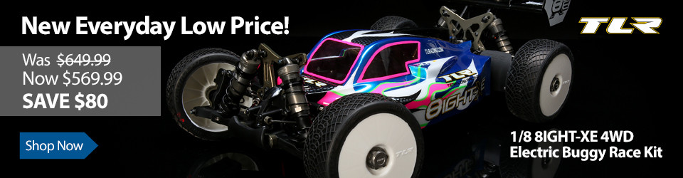 New Everyday Low Price on TLR 1/8 8IGHT-XE 4WD Electric Buggy Race Kit