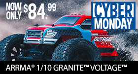 Cyber Monday Deal Ready To Run and only $84.99! Learn More about ARRMA Granite Voltage 2WD MEGA Monster Truck