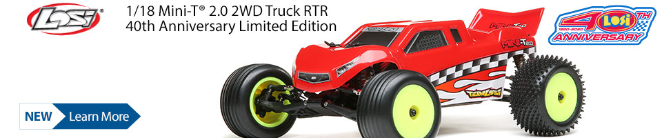 New! Losi 1/18 Mini-T 2.0 Stadium Truck RTR, 40th Anniversary Limited Edition
