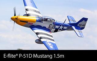 E-flite P-51d Mustang 1.5m