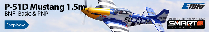 E-flite P-51D Mustang 1.5m BNF Basic & PNP