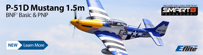 New! E-flite P-51D Mustang 1.5m with Smart