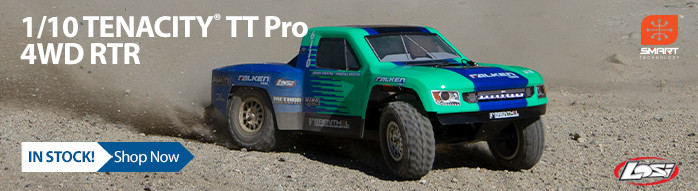 In Stock! Losi Tenacity TT Pro RTR with Smart
