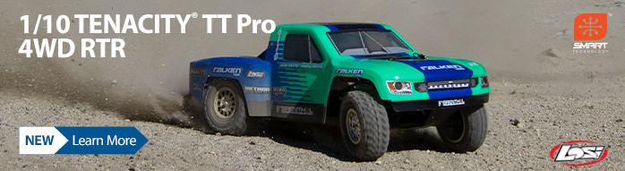 New! Losi Tenacity TT Pro RTR with Smart