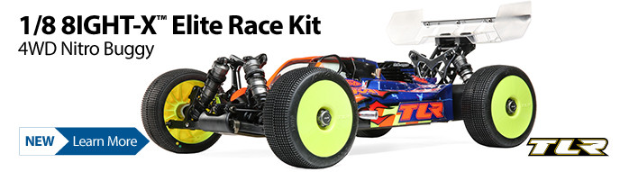 New! TLR 8IGHT-X Elite Race Kit 1/8 4WD Nitro Buggy