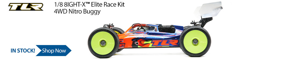 In Stock! TLR 8IGHT-X Elite Race Kit 1/8 4WD Nitro Buggy