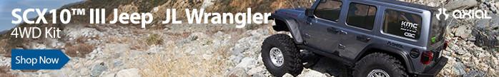 Axial SCX10 III Jeep JLU Wrangler with Portals