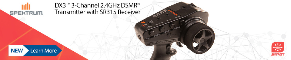 New! Spektrum DX3 Smart DSMR Transmitter