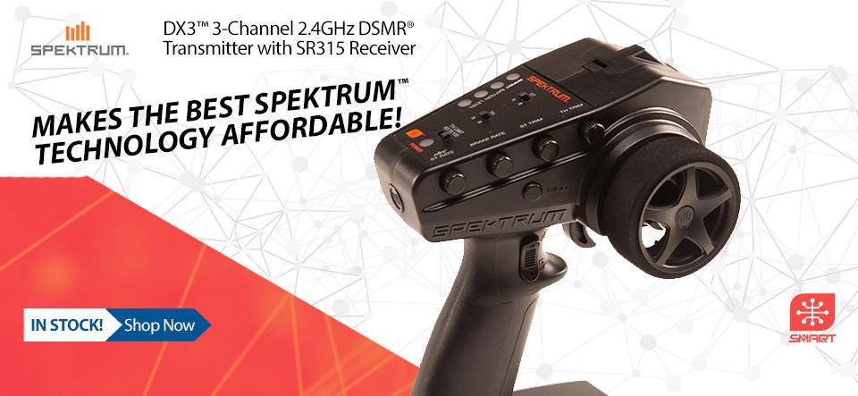 Spektrum DX3 2.4GHz Smart DSMR radio system