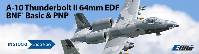 New! E-flite A-10 Thunderbolt II Twin 64mm EDF BNF Basic & PNP