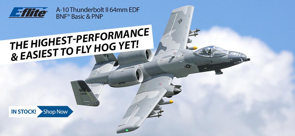 E-flite A-10 Thunderbolt II Twin 64mm EDF BNF Basic & PNP
