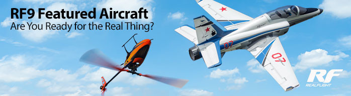 Get to the field with your favorite Real Flight Featured RC Aircraft