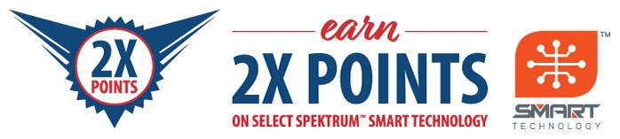 Club Members earn 2X points on Select Spektrum Smart Technology